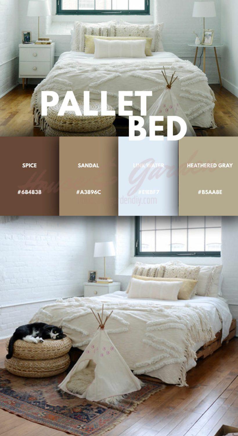 Dormitorio con palet