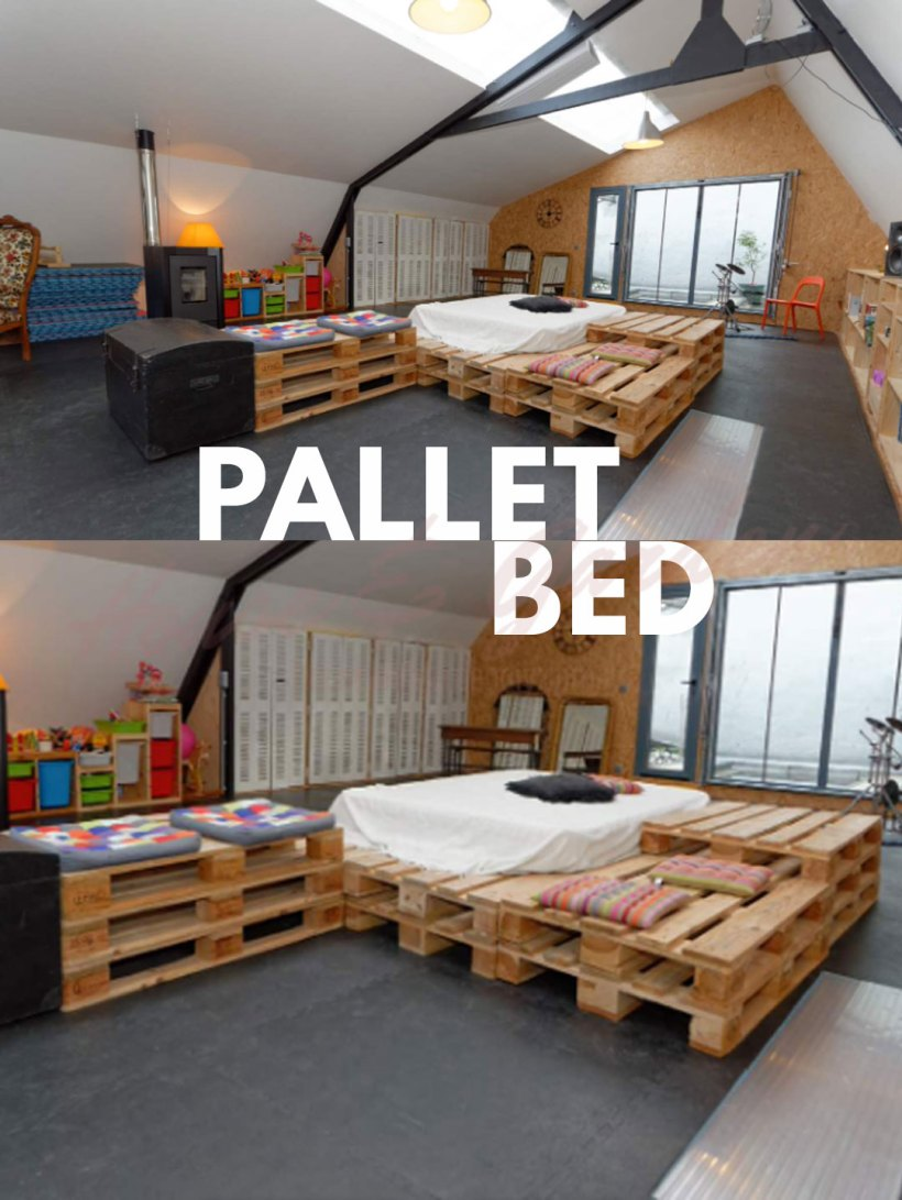 pallet bed lights