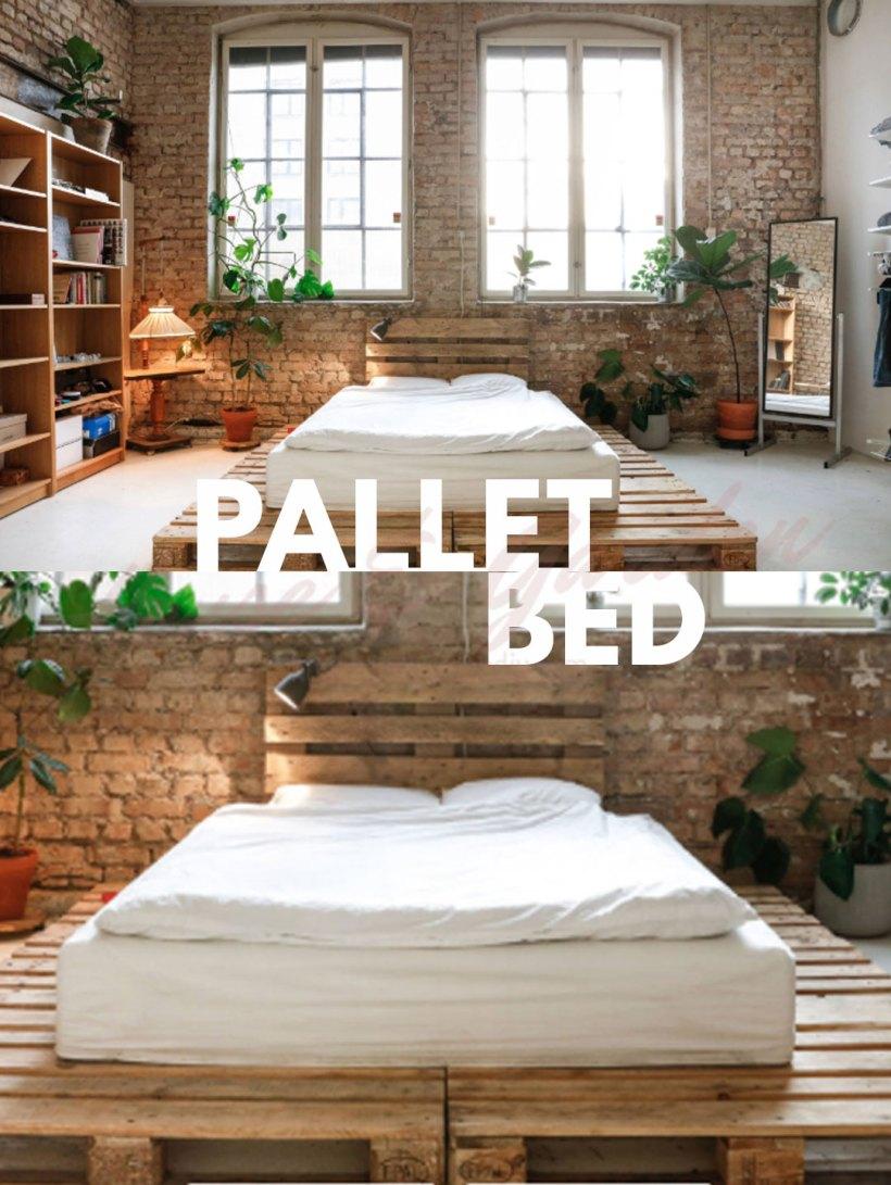 columpio de cama de paleta