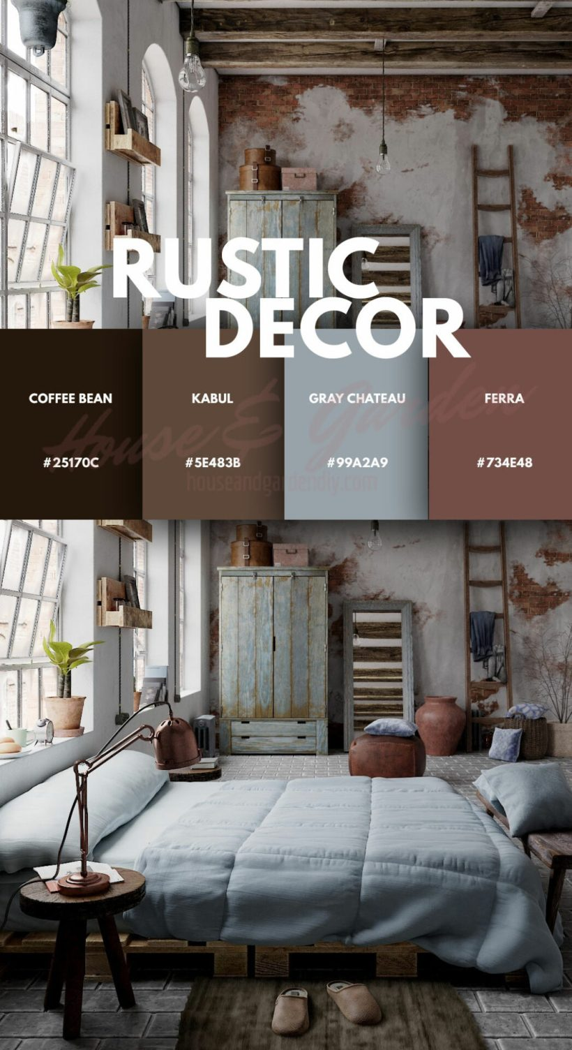 rustic bedroom theme