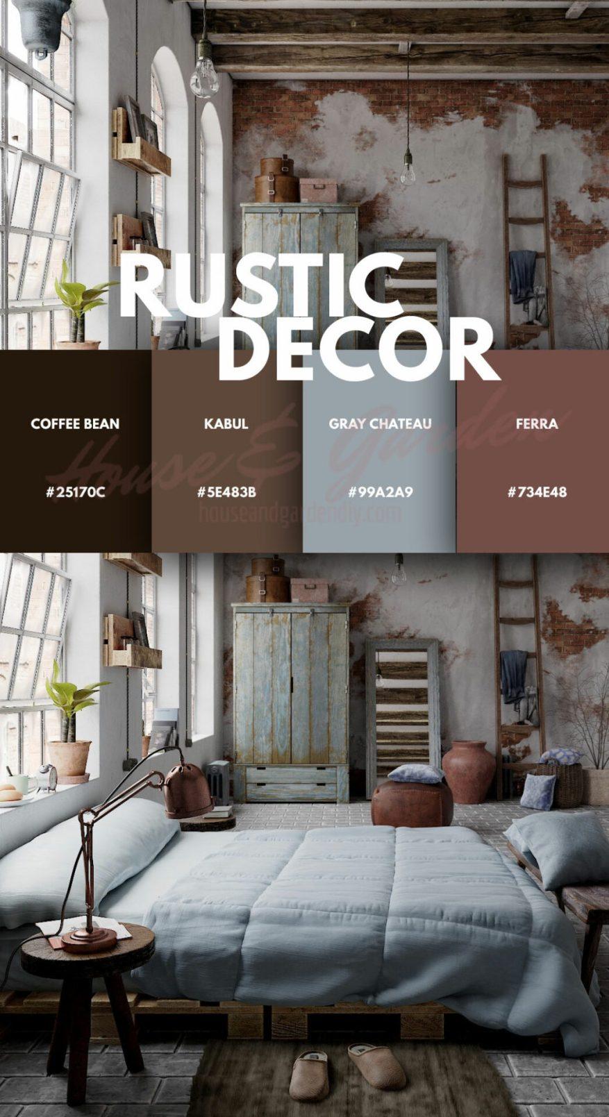 rustic bedroom theme