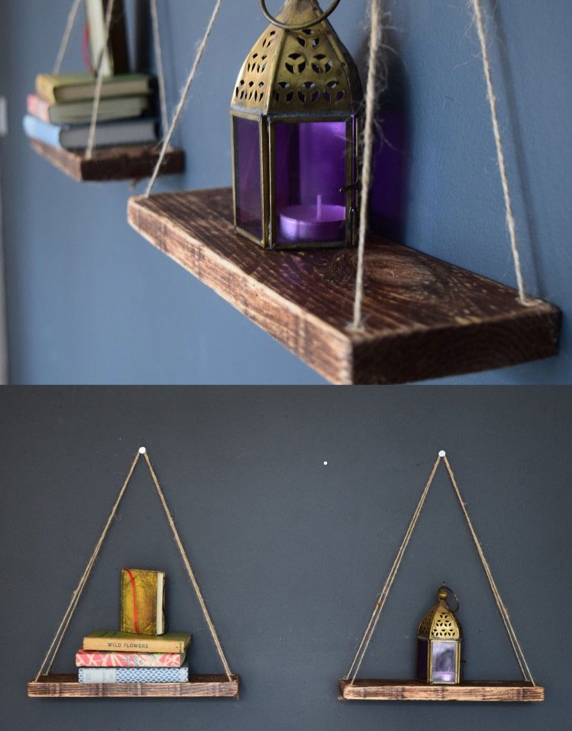 Tiny Floating Shelves