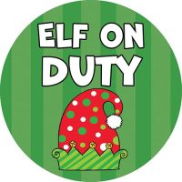 Elf On Duty Christmas Decorative Accent Magnet