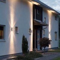 2 X Modern Stainless Steel Up Down Double Wall Spot Light ...