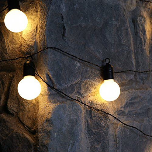 45m Outdoor Battery Powered Clear Bulb Festoon Lights