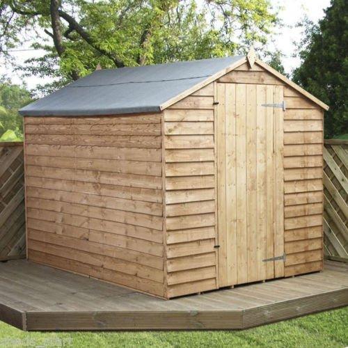 8x6 Overlap Wooden Windowless Apex Garden Shed  Single