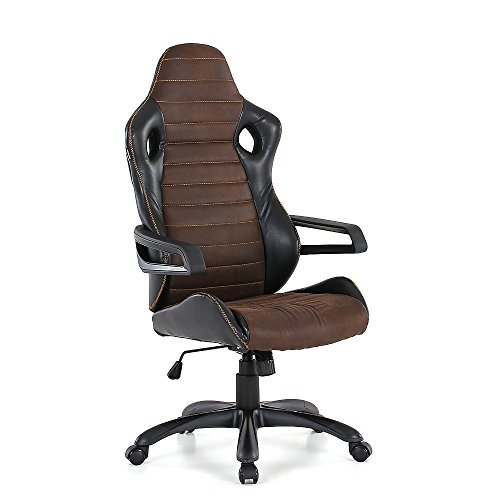 IKAYAA Computer Chair Adjustable Swivel Office Chair