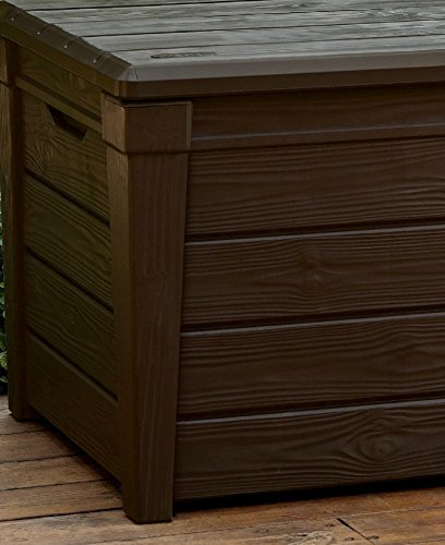 Keter Brightwood Plastic Storage Box Container Outdoor