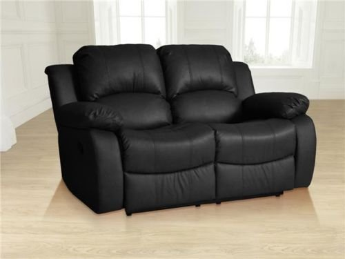 valencia black recliner leather sofa rowe sectional brentwood suite 3+2 seater ...