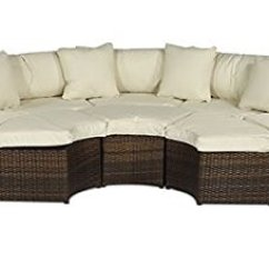 Outdoor Corner Sofa Weather Cover Modern Designs 2017 Monaco Large Rattan Set (semi Circle) With Small ...