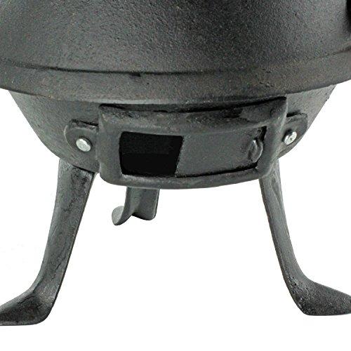 Black Barrel Charcoal Bbq W Cast Iron Adjustable Grill