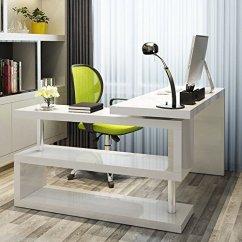 """Rattan Garden Corner Sofas Uk Sofa Furnitureboxuk """"siena"""" White High Gloss Computer Pc Home ..."""