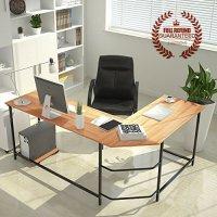 L-Shaped-Corner-Computer-Desk-Large-Corner-PC-Laptop-Study ...