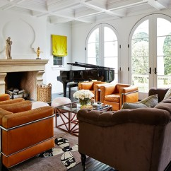 4 Chairs In Living Room Decorating With Brown Sofa 3 Tan Leather Sofas Grand Piano And Four Oct14