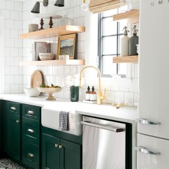 Green Kitchen Cabinets Signs 18 Greenkitchens Modern Vintage With In Benjamin Moores Forest Open Shelving And Cement Tile