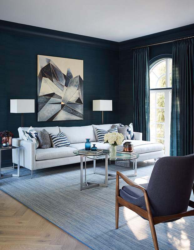 Ask A Designer How To Transform A Living Room With Shades Of Blue House Home