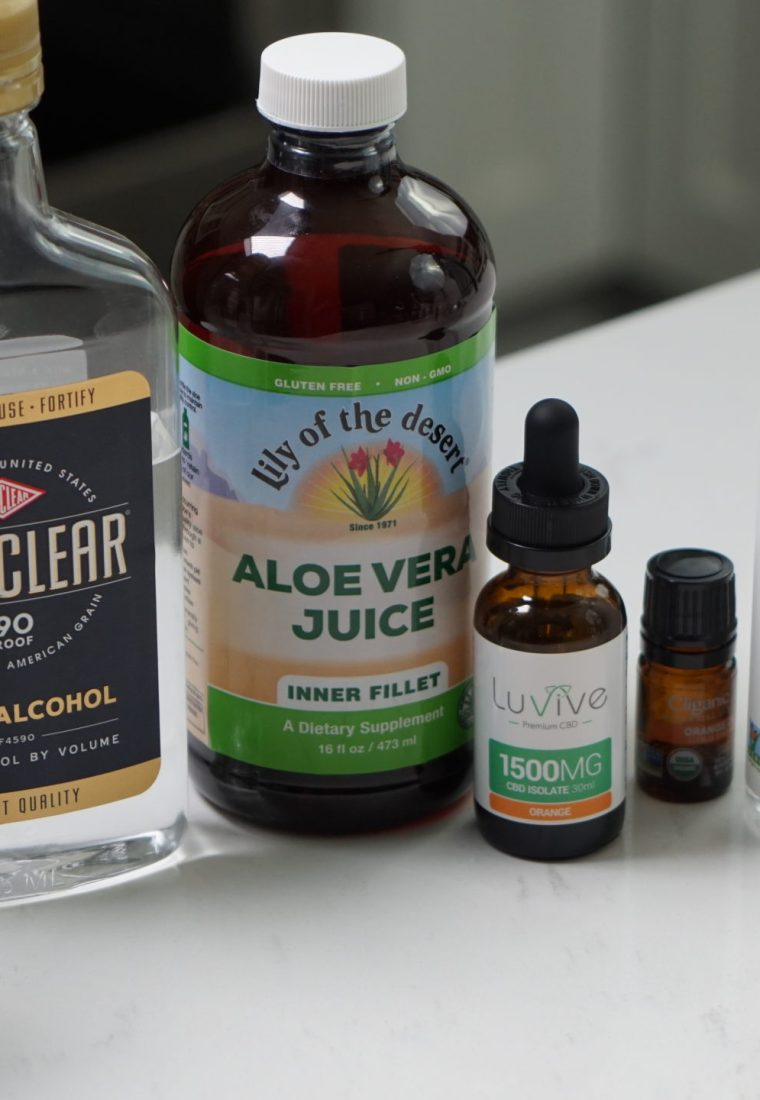 DIY Hand Sanitizer with Essential Oils and CBD