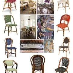 French Rattan Bistro Chairs White Indoor Rocking Chair April In Paris The House Appeal Allure Of