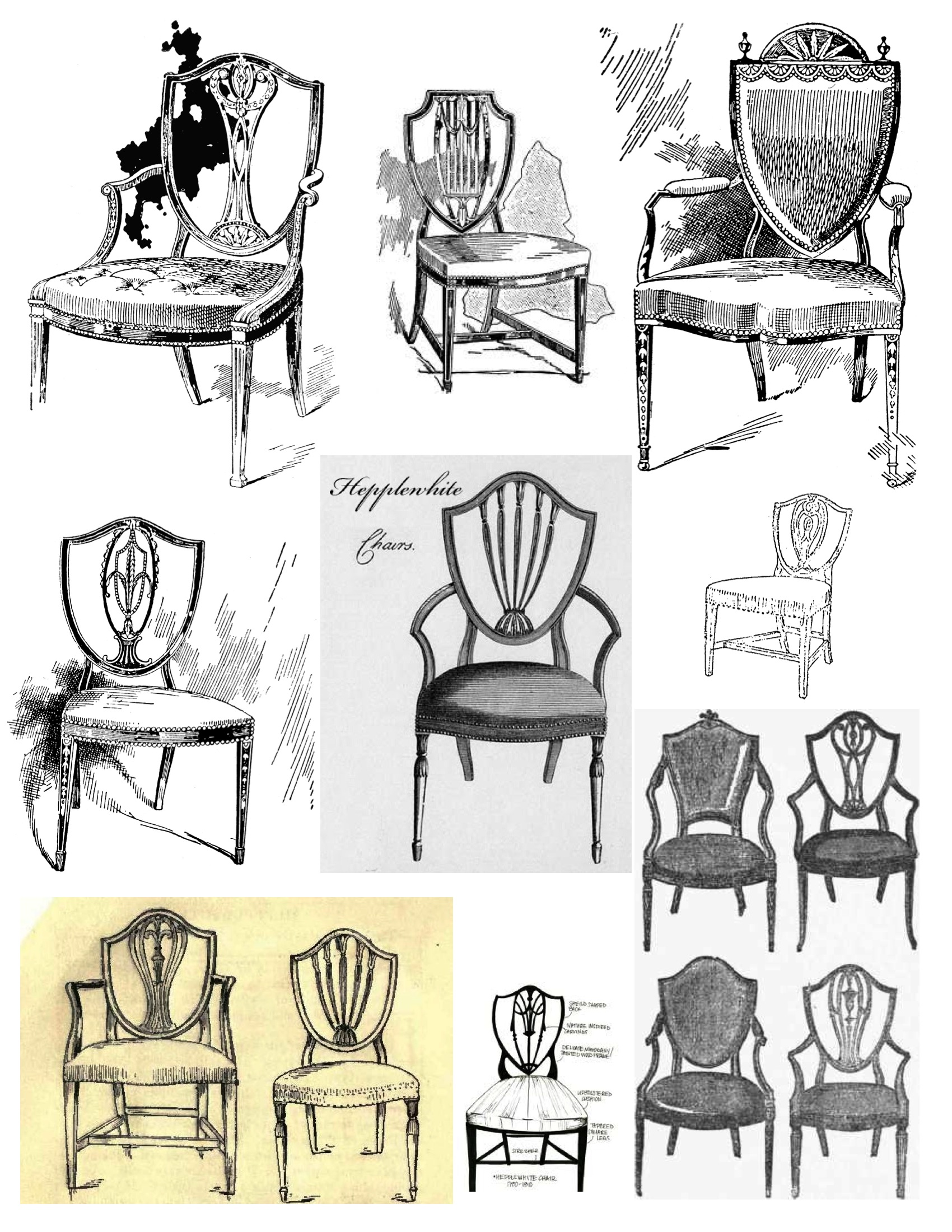 Styles Of Chairs Mystery Of Design The Elegant Hepplewhite Shield Back Chair