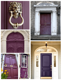 Exterior Color Inspirations: The Regal & Dramatic Purple ...