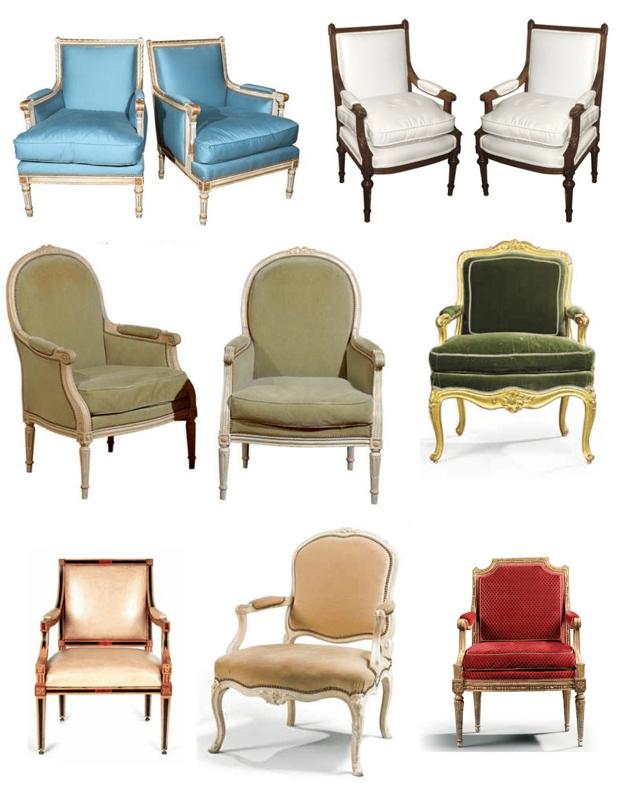 Styles Of Chairs French By Royal Design The Louis Fauteuil And Bergere