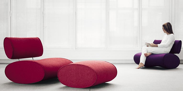 ultra modern sofa and chair from paola