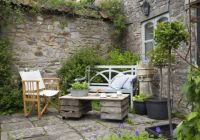 Courtyard garden boasts stone walls, scented plants and ...