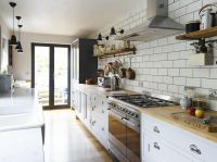 This Shaker-style galley kitchen merges vintage with ...