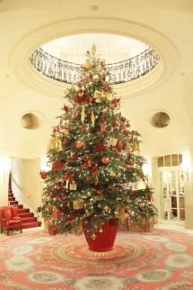 Hotel Lobby Christmas Tree Gold