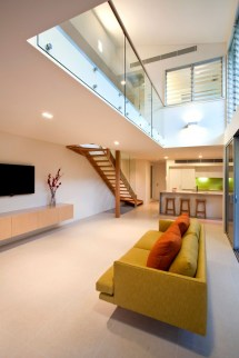 Living Room Interior Simple Staircase Design