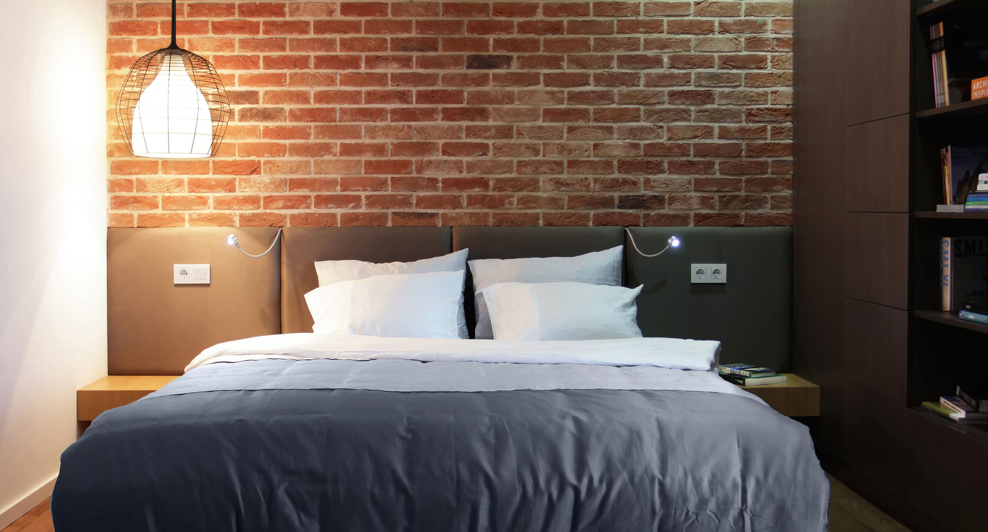 Outstanding Apartment Interior with Exposed Brick Walls