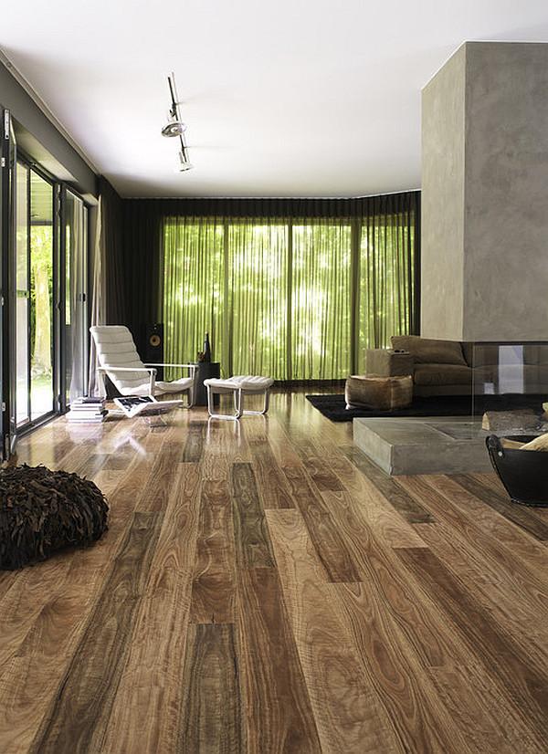 Dazzling Wooden Floor Design for Shiny Interior  HouseBeauty