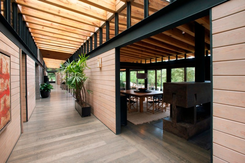 Gorgeous Chalet Design Built by Wooden Material for