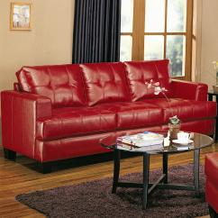 Sofa Designs In Red Colour Live Sofascore Tennis Attractive Leather For Interior Living Room