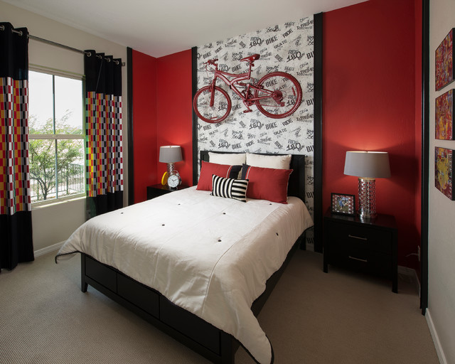 Passionate Red Bedroom Ideas of New Couples in Contemporary Interior  HouseBeauty