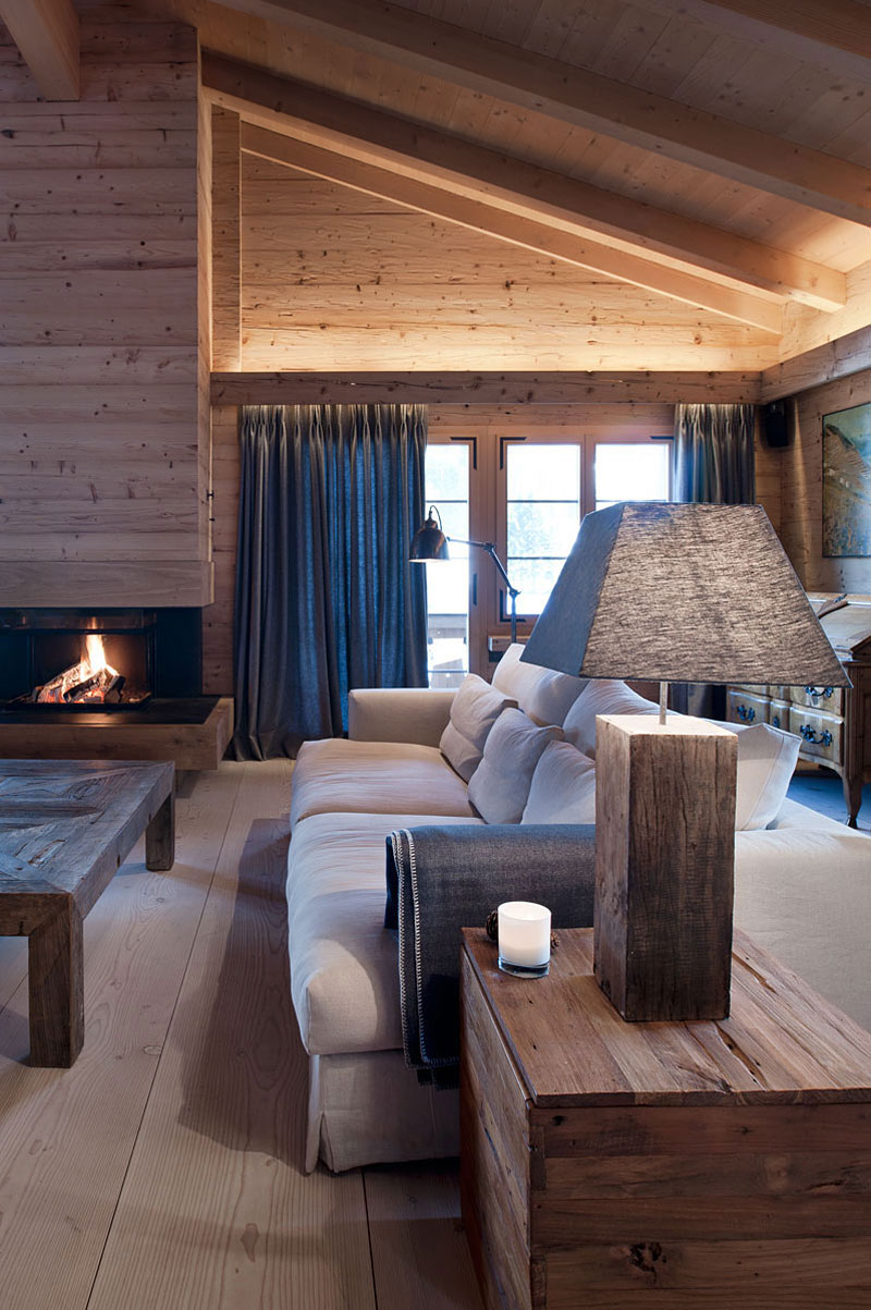 Cozy Wooden Chalet for a Pinocchio Look House  HouseBeauty