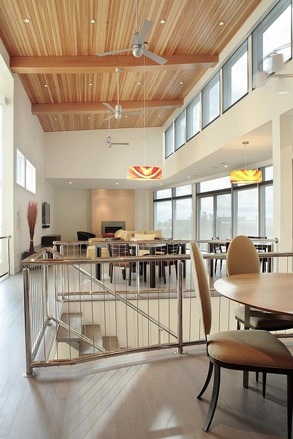 Artistic High Ceiling Design in Bright Room  HouseBeauty