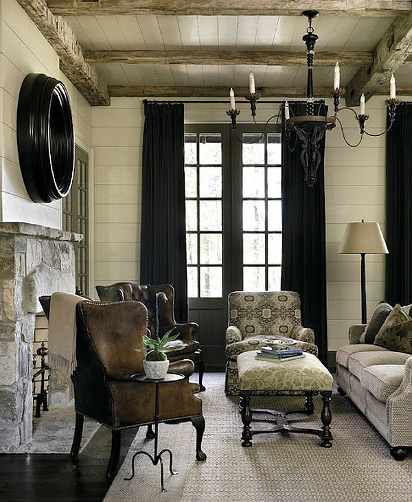 Wonderful Rustic Mountain Home Displaying Elegant Classic Interior  HouseBeauty