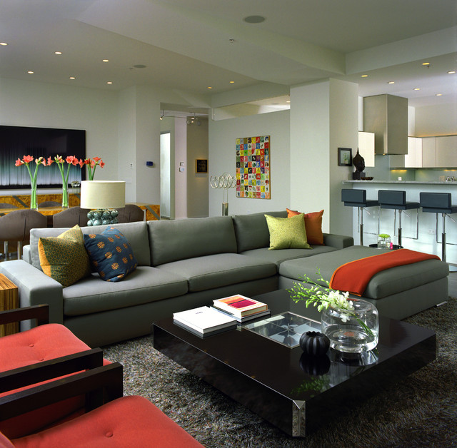 Swanky Large Sectional Sofas Brings Maximum Decor inside