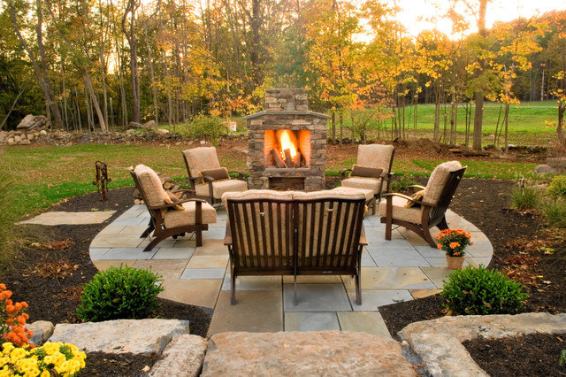 Rocky Outdoor Fireplace Designs For Stronger Exterior Decoration  HouseBeauty