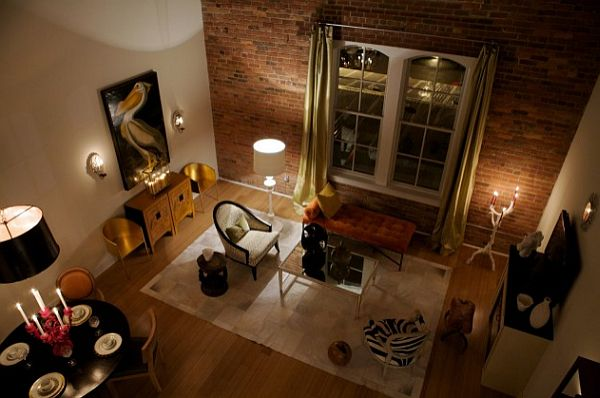 Romantic Brick Wall Design in Mysterious Room  HouseBeauty