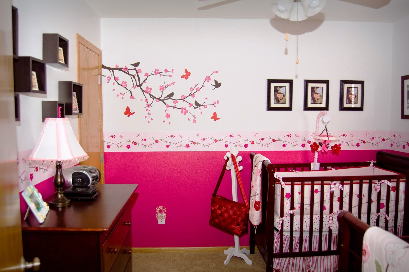 Baby Girl Pattern Wallpaper Astonishing Mini Crib Bedding Designed In Minimalist Model