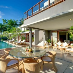 Fancy Dining Room Chairs Canvas Beach Chair Amazing Modern Villa With A Beautiful Design In Indonesia : Housebeauty