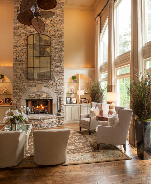 small living room ideas with brick fireplace floating shelves for the inspiring stone design contemporary ...