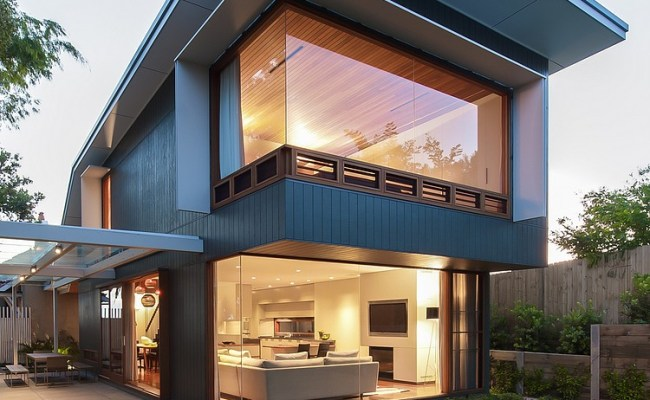 Contemporary Glass And Wood House Design House For