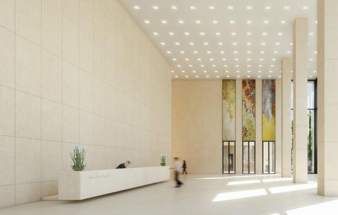Large Modern Lobby Entry Chandelier