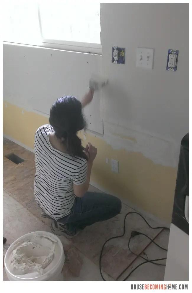 DIY Kitchen Reno new drywall