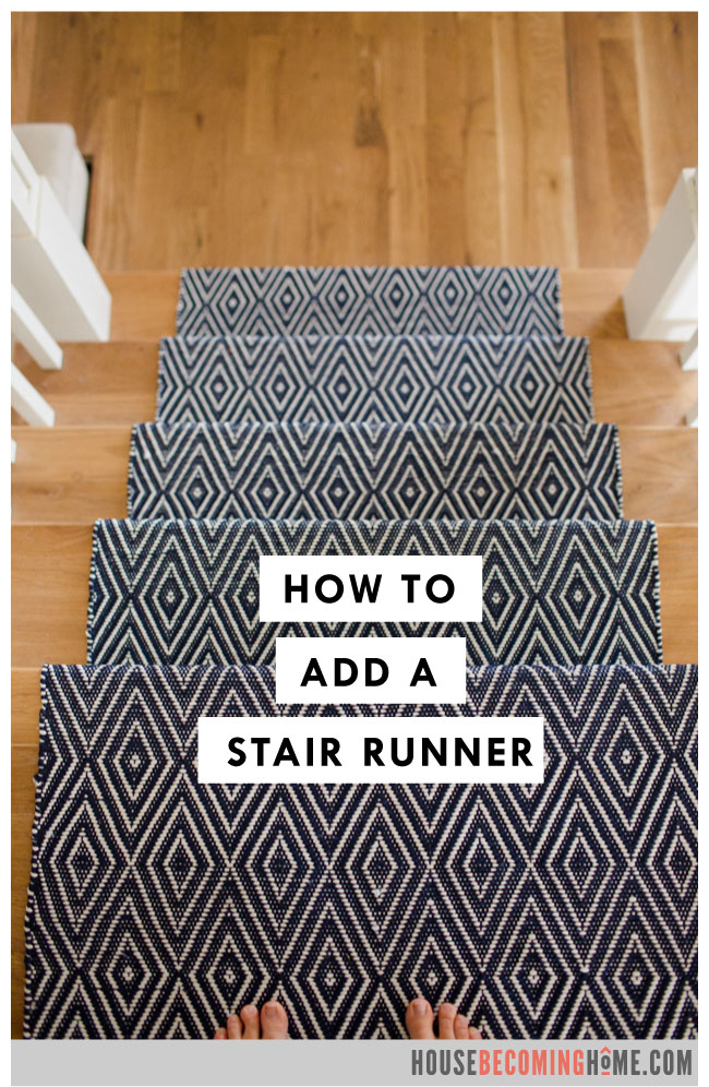 How to add a stair runner blue dash and albert runner on oak stairs