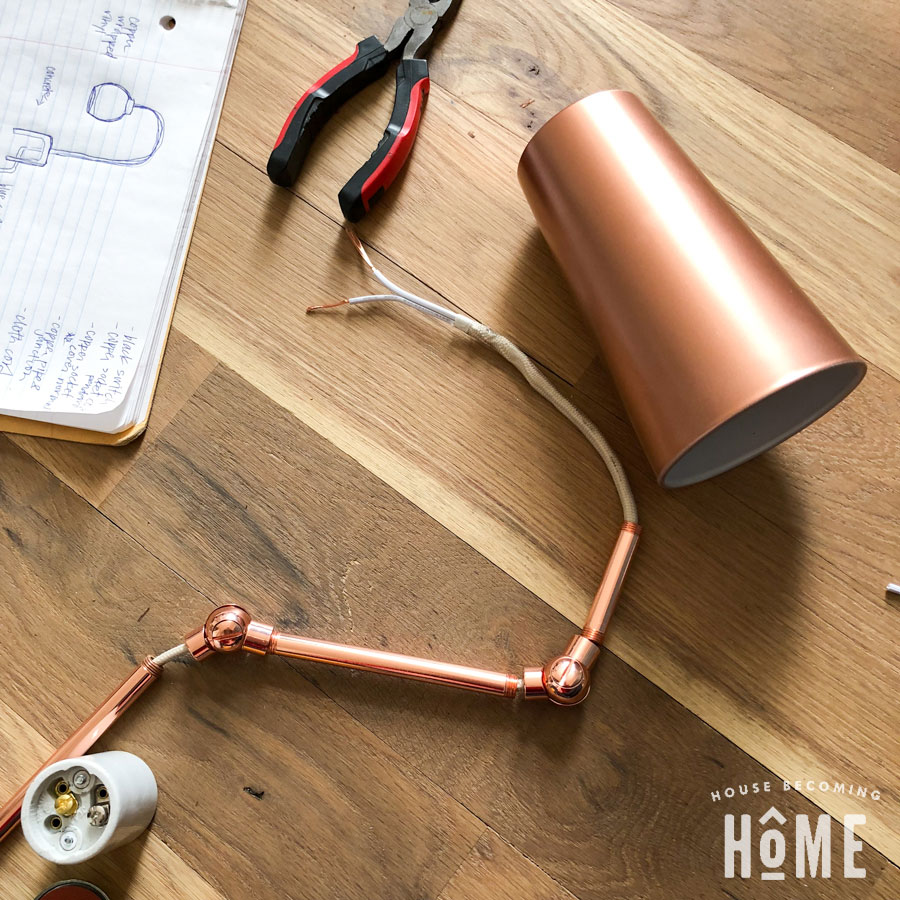 DIY Copper Light Pieces