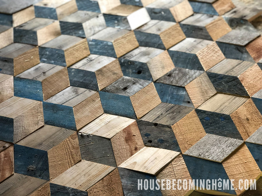 Recycled Wood Pallet Project | Wood Art Challenge - House Becoming Home